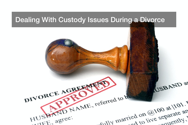 Dealing With Custody Issues During a Divorce